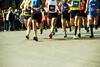 Menschen beim Marathon.