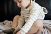 Masern: Kleines Kind mit Hautausschlag