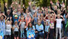 Gruppenfoto von David Storl und Teilnehmern der BIG Family Games in Leipzig